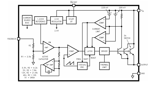 u0026quot active capacitor u0026quot  im lm2596 block diagram